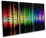 Bold Bloc Design - Graphic Equalizer DJ Club - 150x100cm Leinwand Kunstdruck Box gerahmte Bild Wand hängen - handgefertigt In Großbritannien - gerahmt und bereit zum Aufhängen - Canvas Art Print