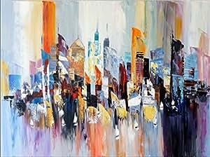 abstraktes bild new york gem lde colorful new york skyline martin klein. Black Bedroom Furniture Sets. Home Design Ideas
