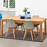 Pharao24 Massivholztisch aus Eiche geölt ausziehbar Breite 90 cm Tiefe 90 cm quadratische Tischform