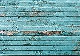 100 Tischunterlagen mit Holz-Optik im Used-Look I DIN A3 eckig I Platzset aus Papier in blau, modern I Einweg Tischset I dv_042