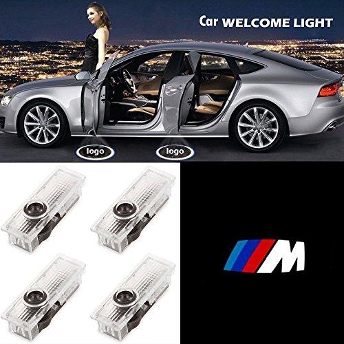 4 x Autotür Logo Projektion Licht Türbeleuchtung Willkommen Licht (M Emblem) by ALBRIGHT