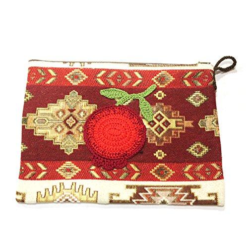 Handgefertigte Rote Tasche (Dalan Handgefertigt Kleine Tasche (Rot))