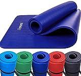 ScSPORTS Gymnastikmatte, Yoga-Matte mit Schultergurt, extra groß und dick, 190 cm x 80 cm x 1,5 cm, blau, rot, grün, schwarz