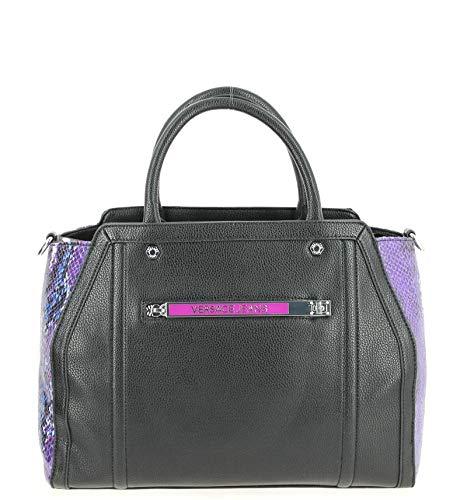 Versace Jeans Damen Python Print Handtasche schwarz