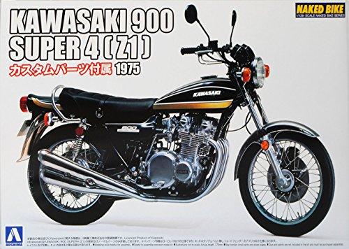 Kawasaki 900 Super 4 Z1 Gelb Schwarz 1975 050187 Kit Bausatz 1/12 Aoshima Modell Motorrad Modell Auto