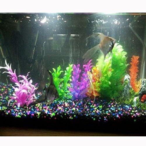 Aquarium Pflanzen, qhj 6Künstliche Kunststoff Wasser Pflanzen Aquarium Tank Zubehör Schildkröte Landschaft, zufällige Farbe (6 Kunststoff-aquarium Pflanzen)