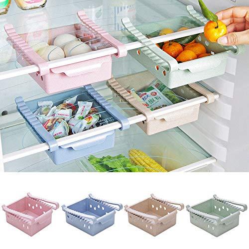 Gaddrt Neuer Küchenartikel-Aufbewahrungsfach-Kühlschrank-Schubladenregal-Plattenschicht Lagerregal (Blue)