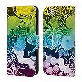 Head Case Designs Offizielle PLdesign Regenbogen Vintage Blumig Brieftasche Handyhülle aus Leder für iPhone 6 / iPhone 6s