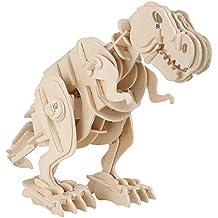 Holzbausatz Dino Roboter T-Rex 35x11x20cm Holz Dinosaurier Spielzeug Bausatz Modell