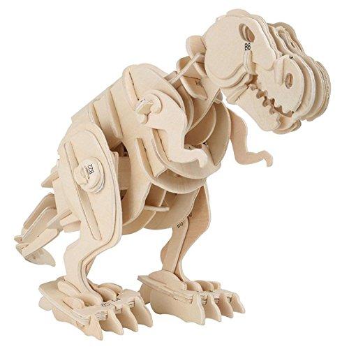 Holzbausatz Dino Roboter T-Rex 35x11x20cm Holz Dinosaurier Spielzeug Bausatz - Roboter-t-rex