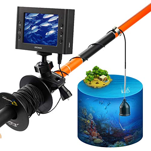 3,5 Zoll LCD-Monitor Unterwasser-Fishing-Video-Camera Fish Finder DVR-Aufnahme für, mit 6 PCS 1W IR-LEDs Dvr Ir-led
