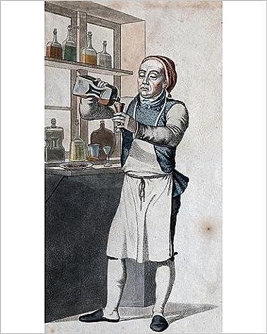 Photographic Print of Brandy, brandywine distilling. Historic engraving from Denmark. distilling