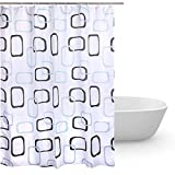 Duschvorhang 180x240 Textil,Anti-Schimmel bad vorhang,wasserdichter stoff waschbarer Shower Curtain,waschbar Anti-Bakteriell Badewanne Duschvorhänge mit 12 ringe für Badezimmer