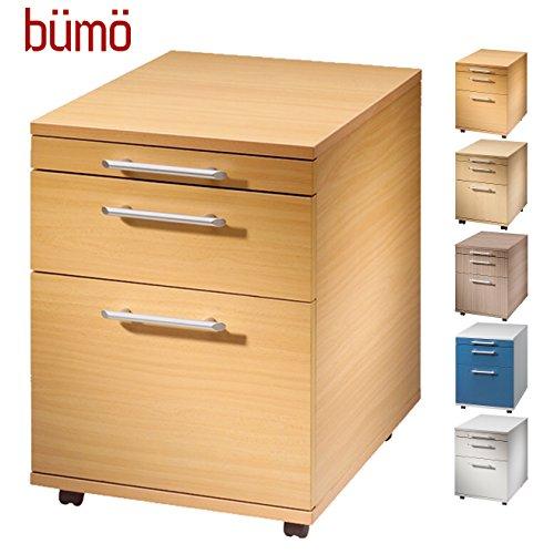 BÜMÖ Rollcontainer mit 2 Schüben und Hängeregister | Bürocontainer aus Holz | Tischcontainer
