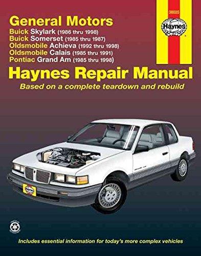 [(GM N-cars (Buick Skylark 86-98, Buick Somerset 85-87, Oldsmobile Achieva 92-98, Oldsmobile Calais 85-91, Pontiac Grand Am 85-98) Automotive Repair Manual)] [By (author) Richard Lindwall ] published on (June, 2001) (97 Pontiac)