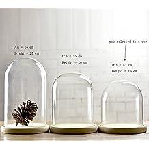 Cloche en verre - Cloche en verre hauteur 40 cm ...