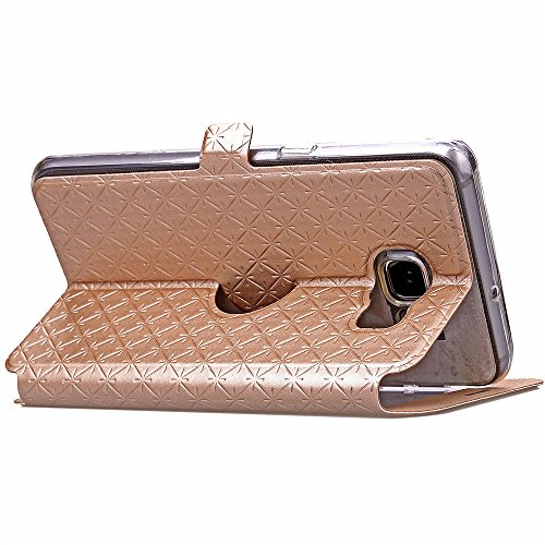 View Etui en PU pour Apple iPhone 6/6s 4.7 Smartphone - Yihya Simple Slim [View Window] Flip Folio PU Leather Wallet Case Coque Housse de Protection Portefeuille - Blanc(White) Or