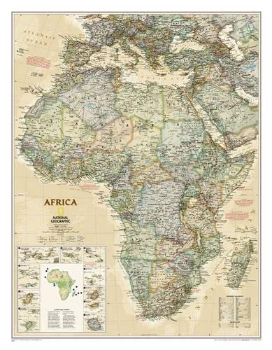 National Geographic: Africa Executive Wall Map - Laminated (24 X 30.75 Inches) (National Geographic Reference Map) por National Geographic Maps - Reference