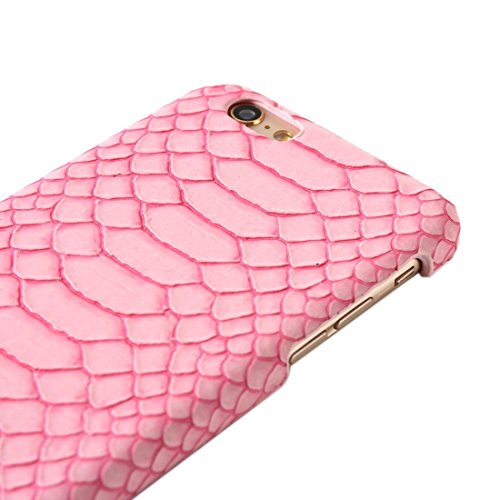Wkae Case & Cover Case Snakeskin Texture couverture rigide de protection pour iPhone 5 ( Color : Silver ) Pink