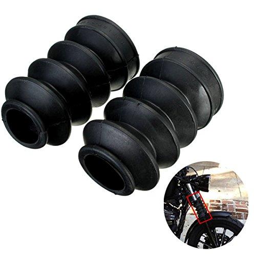 HELEISH Copri forcella da 39 mm Ghette Stivali Gomma per Harley Sportster Dyna FX XL 883 Accessori per moto