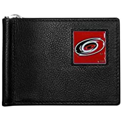 NHL Carolina Hurricanes Leather Bill Clip Wallet
