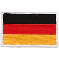 Embroidered GERMAN Flag PATCH, Iron-On / Sew-On - 3