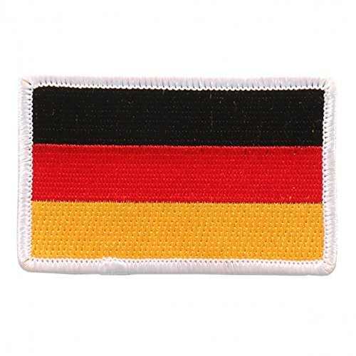 """Embroidered GERMAN Flag PATCH, Iron-On / Sew-On - 3"""" x 2"""""""