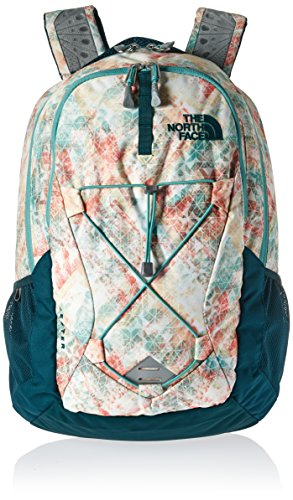 the-north-face-t0chj3rdu-os-sac-a-dos-femme-golden-haze-neon-geo-print-deep-teal-blue-taille-unique