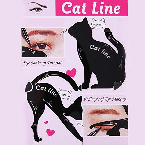 Everpert Cat Eyeliner Stencil Maquillaje modelos cejas
