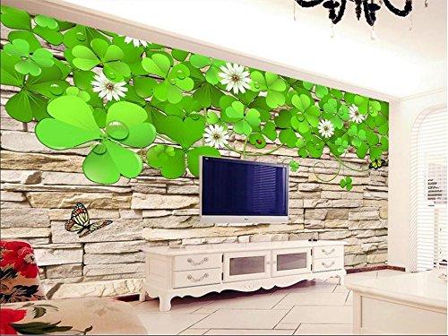 Benutzerdefinierte Größe 3d Fototapete Wohnzimmer Wandbild Shamrock kulturellen Stein Malerei TV Hintergrund Vliestapete für Wand 3d-450X300CM Shamrock Hotel