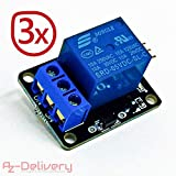 AZDelivery ⭐⭐⭐⭐⭐ 3 x 1-Relais KY-019 Modul High-Level-Trigger für Arduino