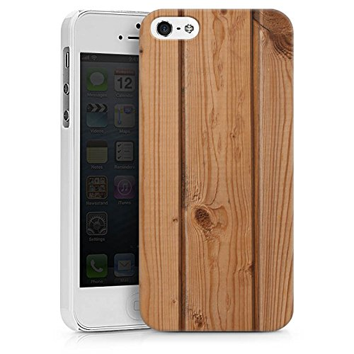 Apple iPhone X Silikon Hülle Case Schutzhülle Holz Look Planken Holzboden Hard Case weiß
