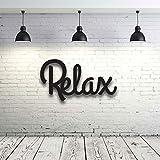 Holzschriftzug mit Spruch Relax Dekoration Wohnzimmer Deko Schriftzug Holz H021 ilka parey wandtattoo-welt® - ausgewählte Farbe: *kirschrot* ausgewählte Größe: *XL - 60cm hoch x 32cm breit*