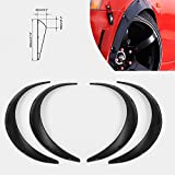 BEESCLOVER 4 Stück Universal PU 90 mm Fender Flares JDM Over Wide Body Wheel Arches Black Spray Paint