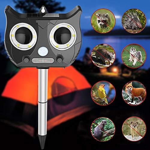 Cutogain Solar Power Animal Repeller Wasserdichter Outdoor-Tiervertreiber mit Ultraschall Solar Powered Multi-device