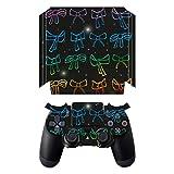 Disagu SF-sdi-5547_557 Design Folie für Sony PS 4 Pro mit Controller - Motiv Bunte Schleifen transparent