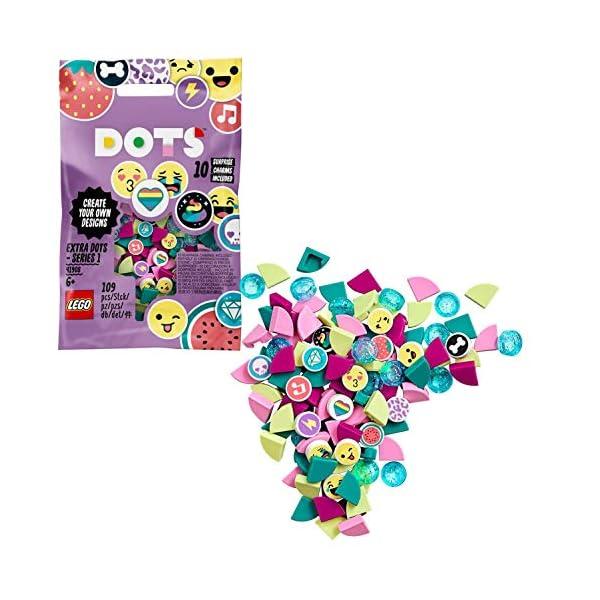 LEGO- Dots Extra Serie 1 Accessori con Elementi Glitterati, Traslucidi e Speciali per Cambiare il tuo Braccialetto o le… 1 spesavip