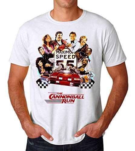 The Cannonball Run Poster Men's T-Shirt Herren Small - Run Fun Shirt