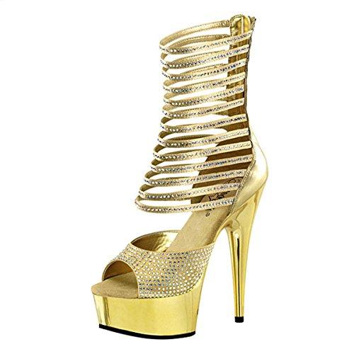 Strass High Heels gold Gold 9MuWNajvh7