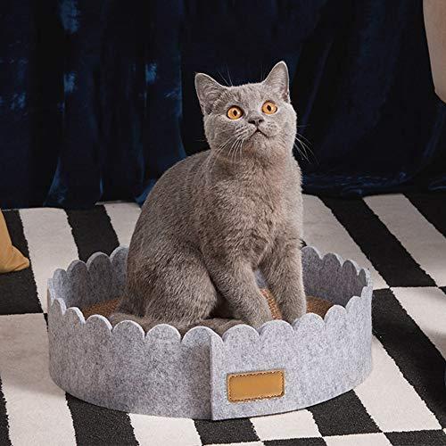 LCLZ Hohe Qualität Wellpappe Filz Katzenkratzteller Krallen Wellpappe Klauenpflege Toy Wear Pad Katzennest Hausbett Sofa Kitten Scratcher Mehrere Kratzwinkel -