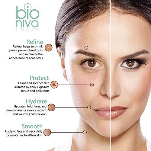 Bionura Retinol Serum mit 2,5% Retinol, 20% Vitamin C & 10% Hyaluronsäure – Die beste Natürliche Anti Aging & Anti Falten Retinol Behandlung für Sensible Hautohne die irritierenden Nebenwirkungen. 30 ml - 5