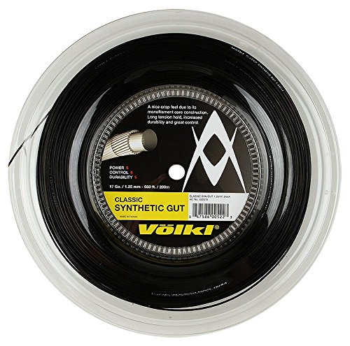 VOLKL Classic Synthetik gut 17/1,25mm 200m Spule–Schwarz