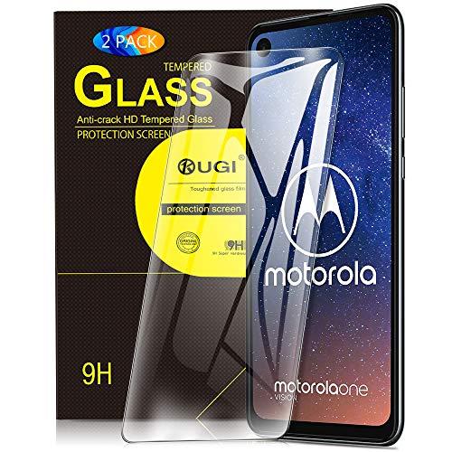KuGi. pour Verre trempé Motorola One Vision/Motorola One Action, [Dureté 9H] HD Ultra Transparent Protection écran en Verre trempé pour Motorola One Vision/Motorola One Action (Pack de 2)
