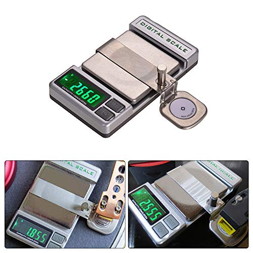 Kalaok Präzision Plattenspieler Phono LP Stylus Force Digitalwaage Manometer Elektronische Waage Mechanis 0,005g Genauigkeit 5-stellige LCD-Anzeige mit einem 20g-Gewicht-Aufbewahrungsbeutel - Anzeigen Oz