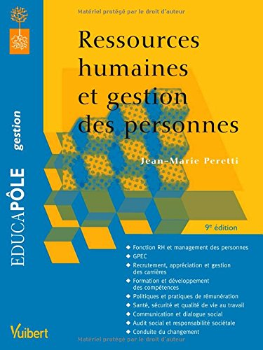 Ressources humaines et gestion des personnes par Peretti Jean Marie