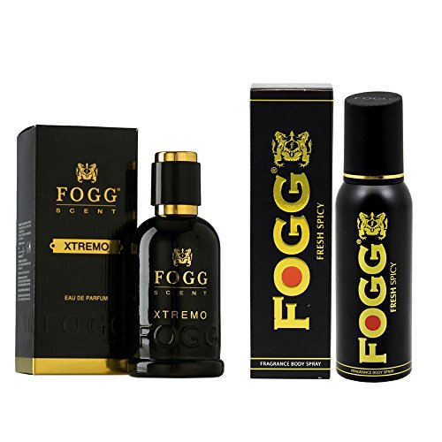 Fogg Combo of Scent Xtremo Perfume 90ml and Fresh Deodorant Spicy Black Series 120ml For Men  available at amazon for Rs.749