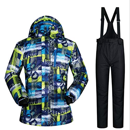 Repliken Werksverkauf Super Rabatt Amazon YUMUYMEY Herren Skianzug Winter Skijacke und Hosen Set (Farbe : 01,  Size : M)   08174356600954