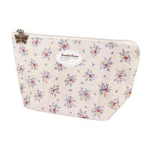 Beige : hunpta Portable Travel Cosmetic Bag Makeup Case Pouch Toiletry Wash Organizer (Beige)