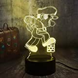 HHYXIN Luz De La Noche Rubik'S Cube Ilusión 3D Led Luz De Noche 7 Colores Lámpara Cambiante Niño Juguete Regalo De Cumpleaños