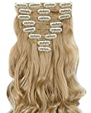 "S-noilite® Hot Fashion 17"" Curly Long Clip in Hair Extensions Full Head 8Pcs Hairpiece (17"" Curly, Ash Blonde)"